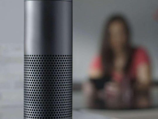 The Amazon Echo acts as a personal digital assistant.