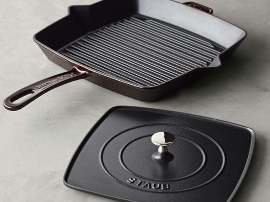 Staub Grill Pan and Press Set