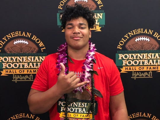 McDonogh School DT D'Von Ellies at the 2019 Polynesian Bowl (Photo: Polynesian Bowl)