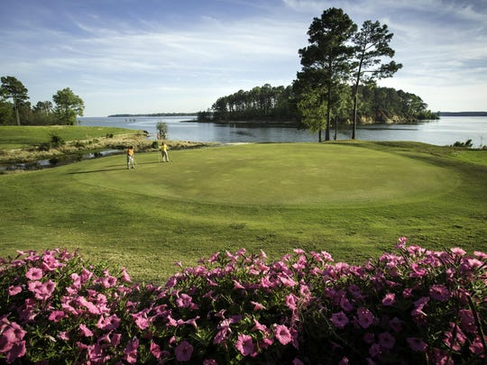 The 17th-hole at Cypress Bend Golf Resort and Conference Center in Sabine Parish