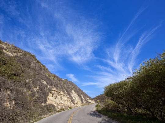 The interior side of Malibu boasts untamed mountain canyons.