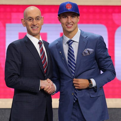 Luke Kennard (Duke) is introduced by NBA commissioner