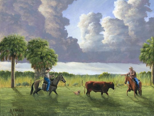 This painting  by Brad  Phares is on display at the Community Foundation of Southwest Florida.