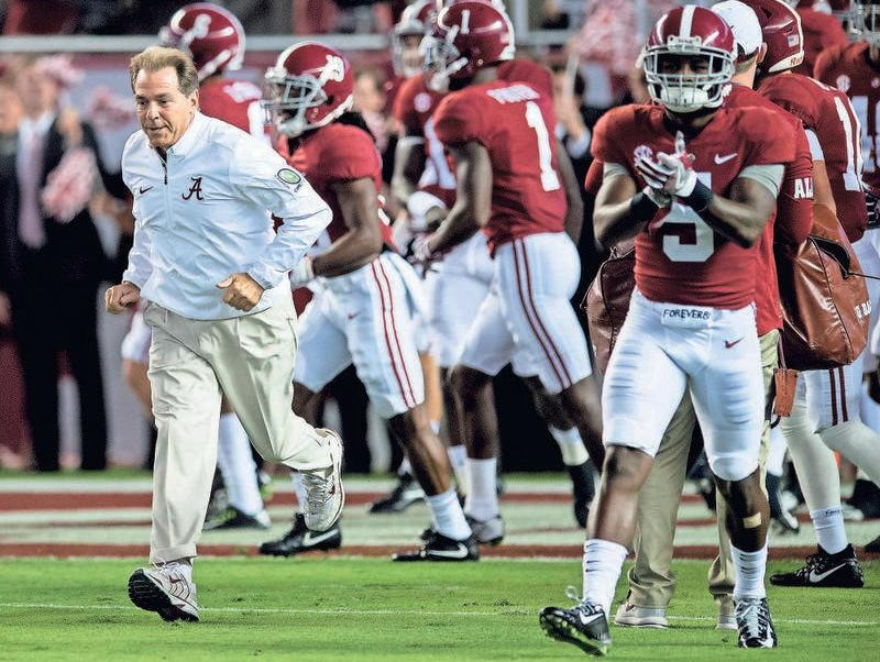 Alabama head coach Nick Saban is always trying to find ways to keep his team motivated.
