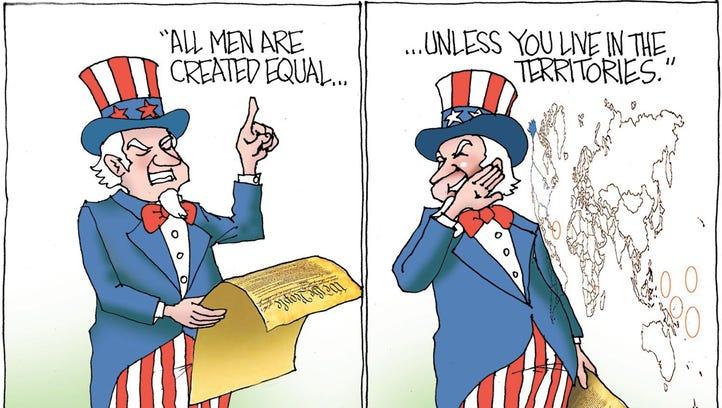 Sunday cartoon for April 30, 2017.
