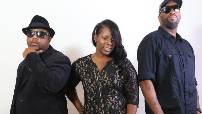 The team behind the Jackson Hip-Hop Music Awards are entrepreneur Lee Vance III, from left, consulting and marketing strategist Shanel Jones, and Jaborri Thomas, CEO of Thomas Investment Properties.