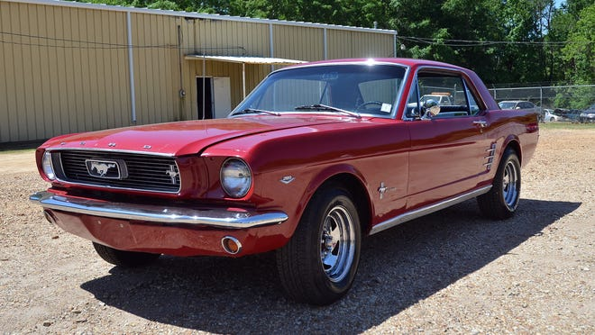 This recovered Ford Mustang, stolen decades ago, is now worth $30,000 or more.