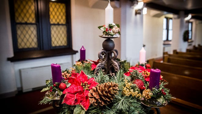 First Baptist Church gets ready for the holidays.