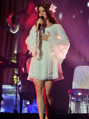 Lana Del Rey performs on day 1 at Lollapalooza in Grant Park in Chicago on Thursday.