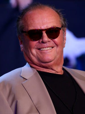 Actor Jack Nicholson attends the Pablo Cesar Cano and Ashley Theophane welterweight fight at the MGM Grand Garden Arena on Sept. 14, 2013 in Las Vegas, Nevada.