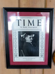 A Time magazine cover featuring Mayor Daniel Hoan hangs in the living room of the family cottage.