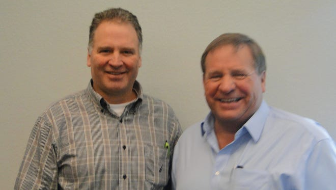 Canadian dairy producers and quota system leaders Ralph Deitrich and Murray Sherk shared ideas for protecting dairy prices on dairy farms during a meeting hosted by the Wisconsin Farmers Union.