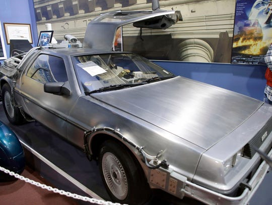 "The 1982 Delorean ""Time Machine"" from the movie ""Back"