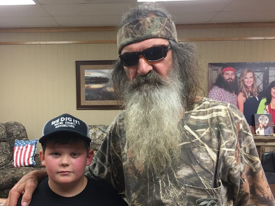 Zackery King, 12, got to meet Duck Commander Phil Robertson