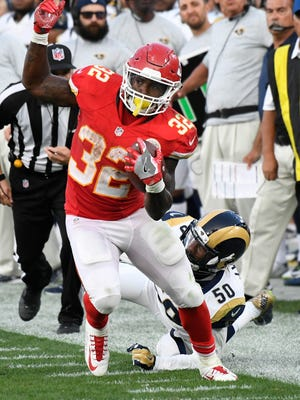 Chiefs running back Spencer Ware figures to get most of the carries early in the season with Jamaal Charles slow to return from a knee injury.