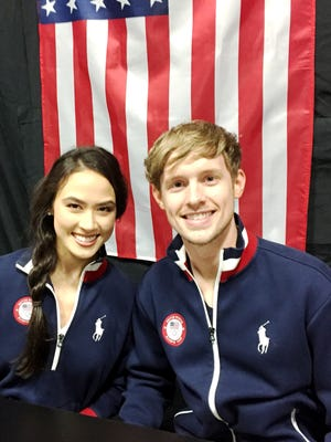 Olympic ice dancers Madison Chock of Novi and Evan Bates will be competing in PyeongChang, South Korea next month for the 2018 Winter Games.