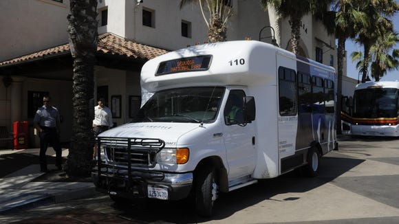 The Sequoia Shuttle departs from the Visalia Transit Center to Sequoia National Park.