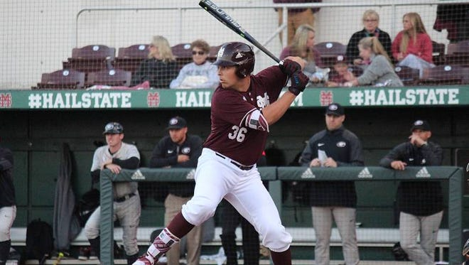 Nathaniel Lowe drove home six runs in Mississippi State's win against LSU on Friday.