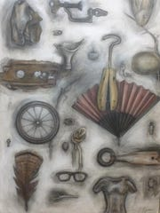 "Nancy Ryan's ""Collections"" includes paintings of objects"
