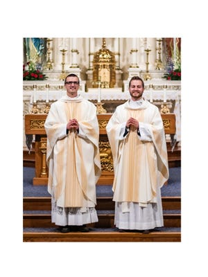 Fr. Shawn Polman (left) and Fr. John Hayes were ordained to the priesthood for the Diocese of New Ulm.