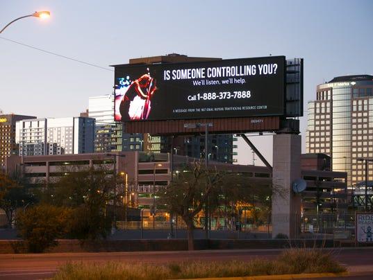 Anti-human trafficking billboard