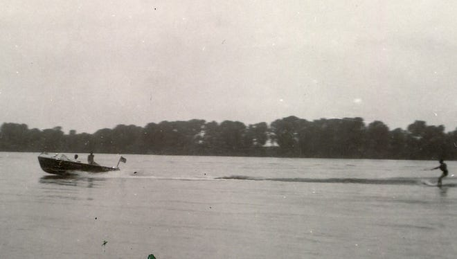 Water skiing was coming on big locally in the mid-1950s, and by the mid-1960s the Boat and Ski Club was holding an annual ski exhibition, which ran into a few problems in July 1967. This photo dates from 1956.