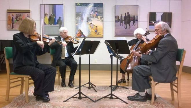 Members of the Gallery Quartet include Carl Tretter, violin; Judson Deitrich, viola; Fay Rosinsky, cello; and, Jere Stern viola and violin
