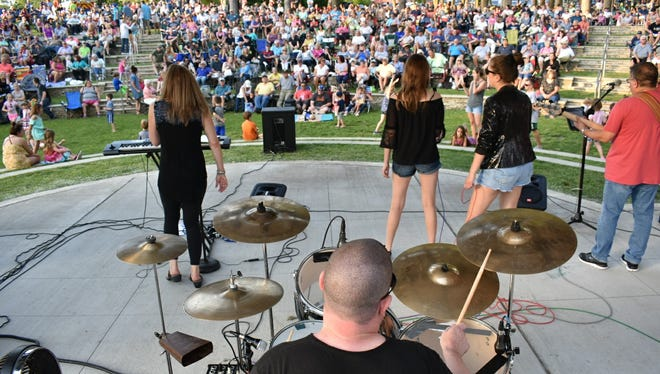 A good crowd turned out for the June 7 Mr. Moody concert, part of Milford's Summer Concert Series.