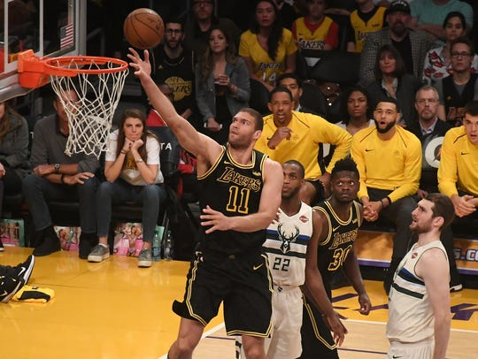 Brook Lopez adds physicality inside for the Bucks.