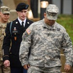 Andrew Craft, The Fayetteville Observer/APU.S. Army Sgt. Bowe Bergdahl leaves the courthouse Tuesday after his arraignment hearing at Fort Bragg, N.C. U.S. Army Sgt. Robert Bergdahl leaves the courthouse Tuesday, Dec. 22, 2015, after his arraignment hearing at Fort Bragg, N.C. Bergdahl, who disappeared in Afghanistan in 2009 and was held by the Taliban for five years, was scheduled to appear Tuesday before a military judge on charges of desertion and misbehavior before the enemy. (Andrew Craft /The Fayetteville Observer via AP)