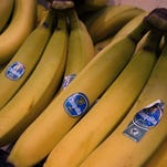 Bananas from Costa Rica are seen for sale at the Eastern Market February 25, 2014, in Washington, DC.