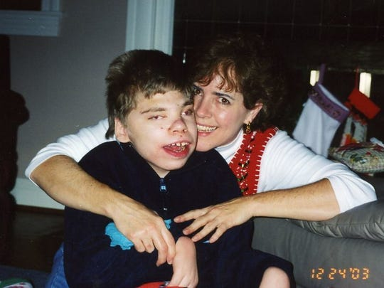 Judy Goldring and her son Ross.