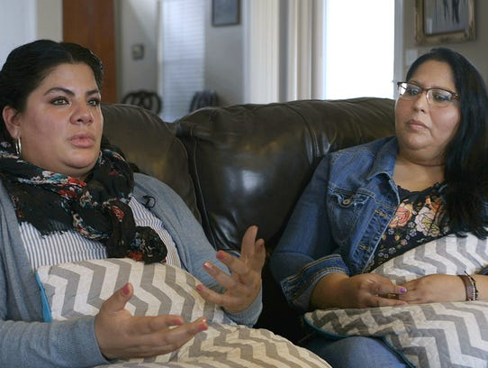 Angelica Soto, left, and Carmen Alegria are best friends