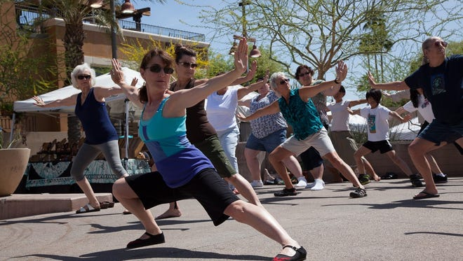 Qi Gong instructor LauRha Frank teaches classes at Desert Foothills Library this fall.