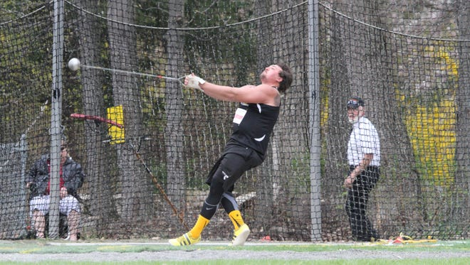 Bloomsburg's Patrick Lehman has already qualified for the PSAC outdoor track and field championships in three events. The Spring Grove graduate notched top-three finishes in the shot put, discus and hammer throw at the Dr. Jack M. Toms Open in Virginia.
