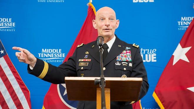 Lt. Gen. Keith Huber, senior adviser for Veterans and Leadership Initiatives at MTSU