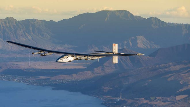 Solar Impulse 2 undertakes a March maintenance flight, performed by test pilot Markus Scherdel in Hawaii, before the first round-the-world solar flight resumes in April 2016.