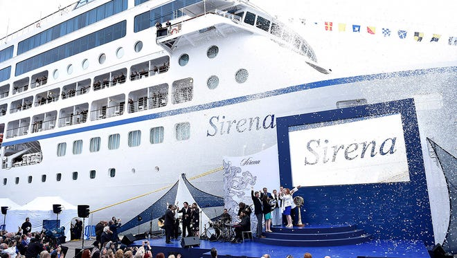 Oceania Cruises' newest ship, the 684-passenger Sirena, was christened in Barcelona on April 27, 2016.