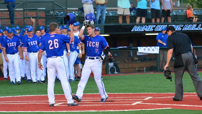Chandler Hall's two-run home run in the third helped lead Louisiana Tech to a series sweep over Northwestern State on Wednesday.