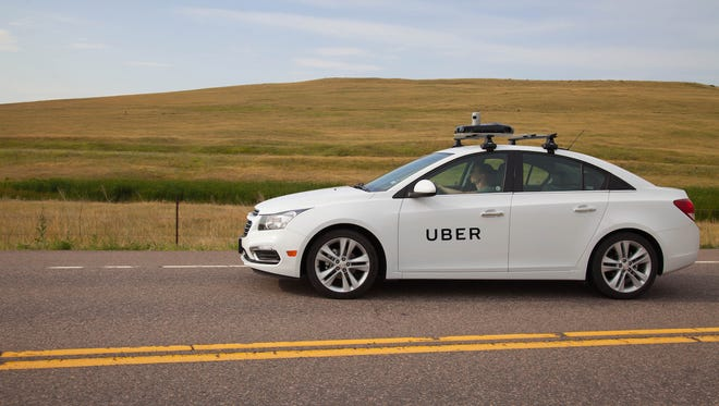 Uber's mapping car.