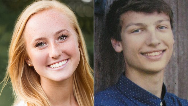 Danielle Maurer and Sheldon Hess of Menasha High School are this week's top scholars.