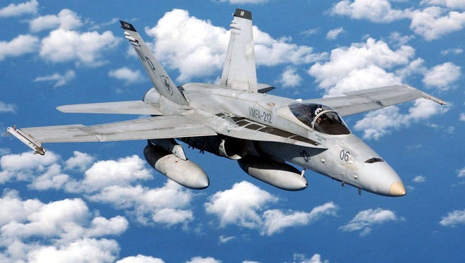 A Marine Corps jet fighter has crashed an  F/A-18 Hornet Tuesday in the Southern California desert, but the pilot escaped injury.