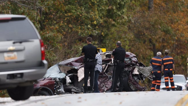 Troopers say two people were injured in a crash Wednesday afternoon east of Springfield.