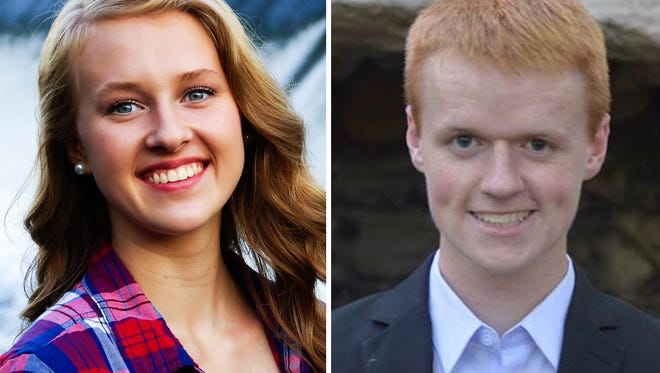 Amanda Kellenberger and Andrew Duncombe of Appleton West are this week's top scholars.
