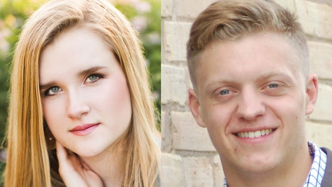 Katrina Hochholzer and Adam Smith of Kaukauna High School are this week's top scholars.