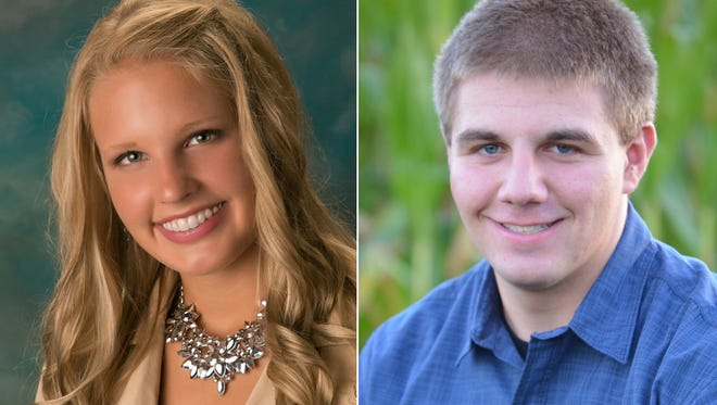 Brianna Lorenz and Derek Schmidt of Brillion are this week's top scholars.