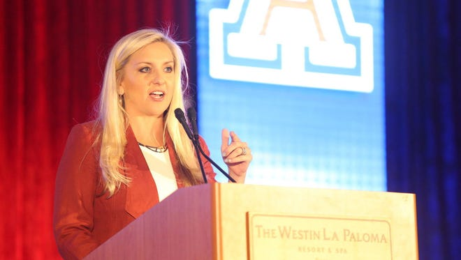 Erika Barnes is the interim AD for the Arizona Wildcats.