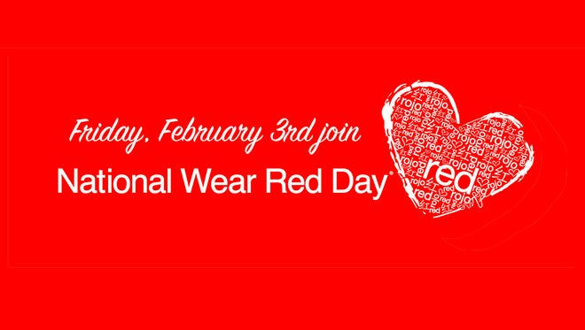 National Wear Red Day is this Friday, Feb. 3, 2017.