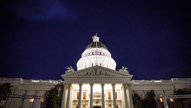 The State Capitol in Sacramento.