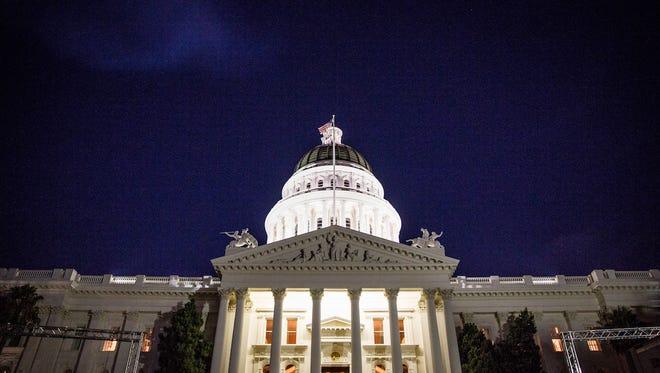 California capitol building in Sacramento.